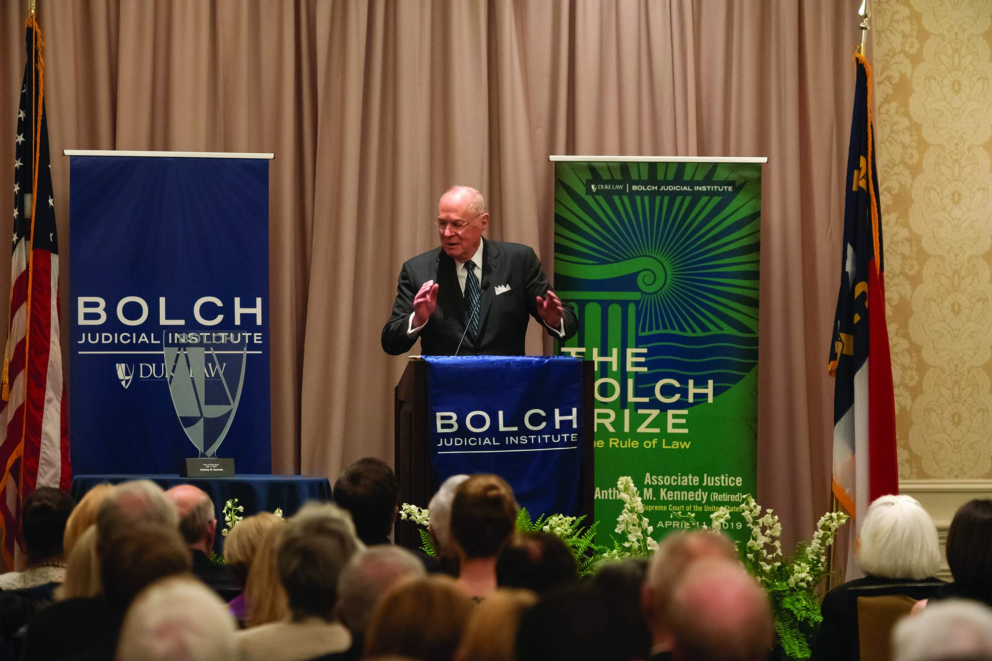 Justice Kennedy speaking at 2019 Bolch Prize ceremony