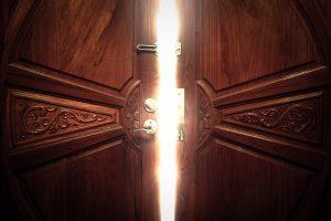 door slightly ajar